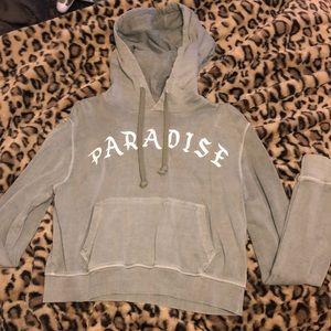 PARADISE cropped hoodie